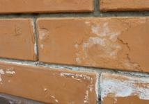 Как убрать высолы на кирпичной стене