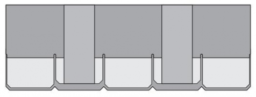 Схема листа Шинглас серии Континент